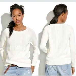 MADEWELL Ivory Knitmix Cotton Pullover Sweater M